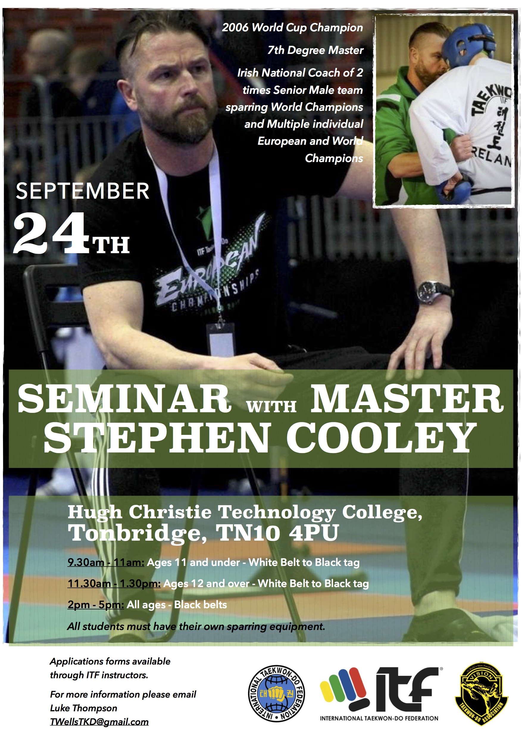 Master Cooley Seminar – September 24th