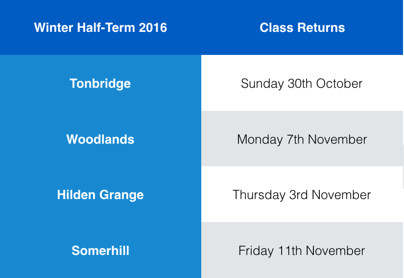 Winter Half-Term 2016